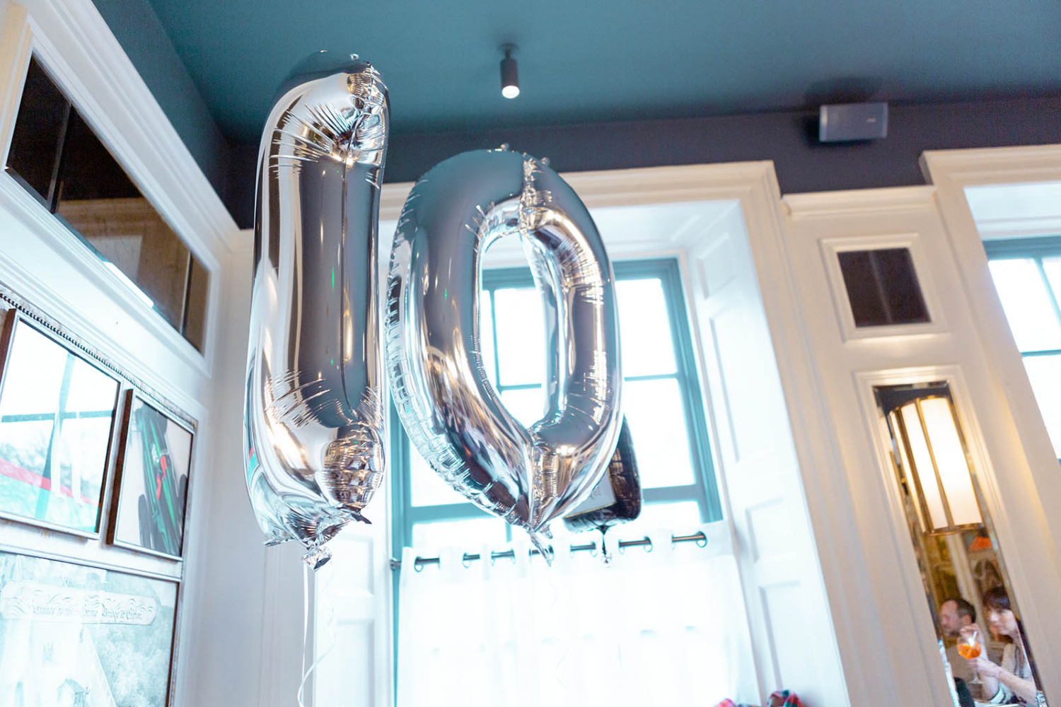 10 Years balloons by Max McClure
