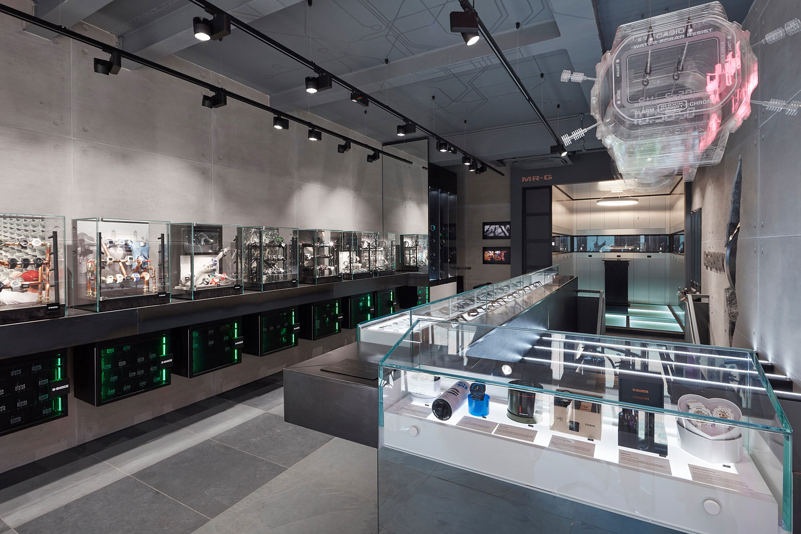 G Shock Retail Store Display Cases