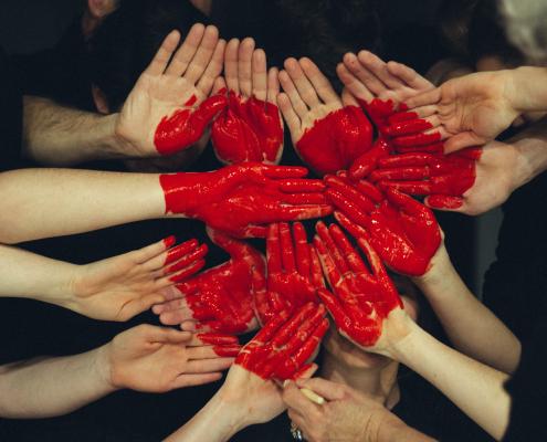 Hands make a heart