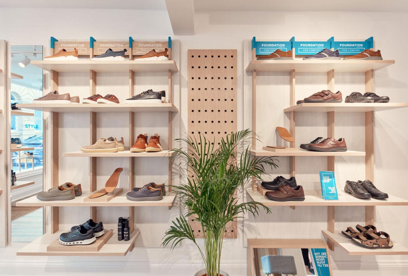 Footbalance Retail Display Design Bath