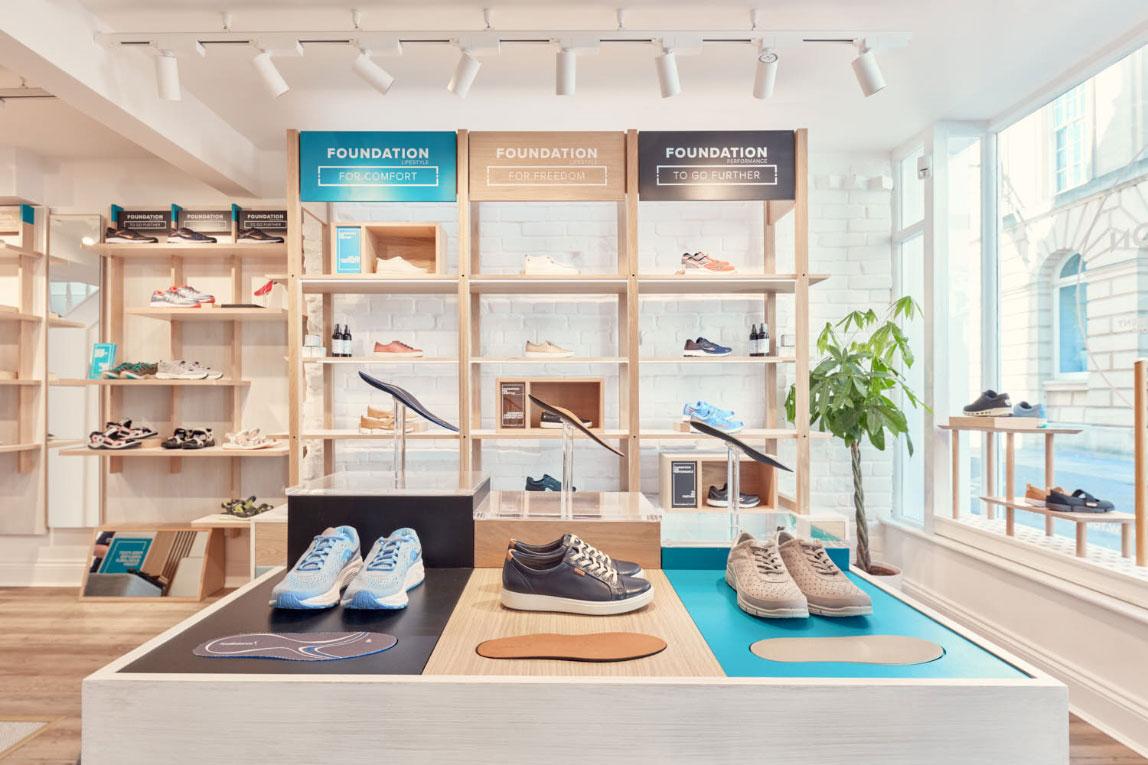 Footbalance Flagship Store Design, Bath